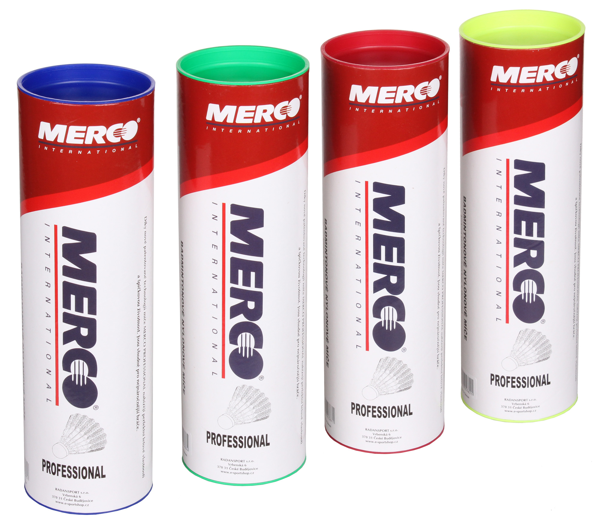 Badmintonové košíky Merco Professional 6 ks