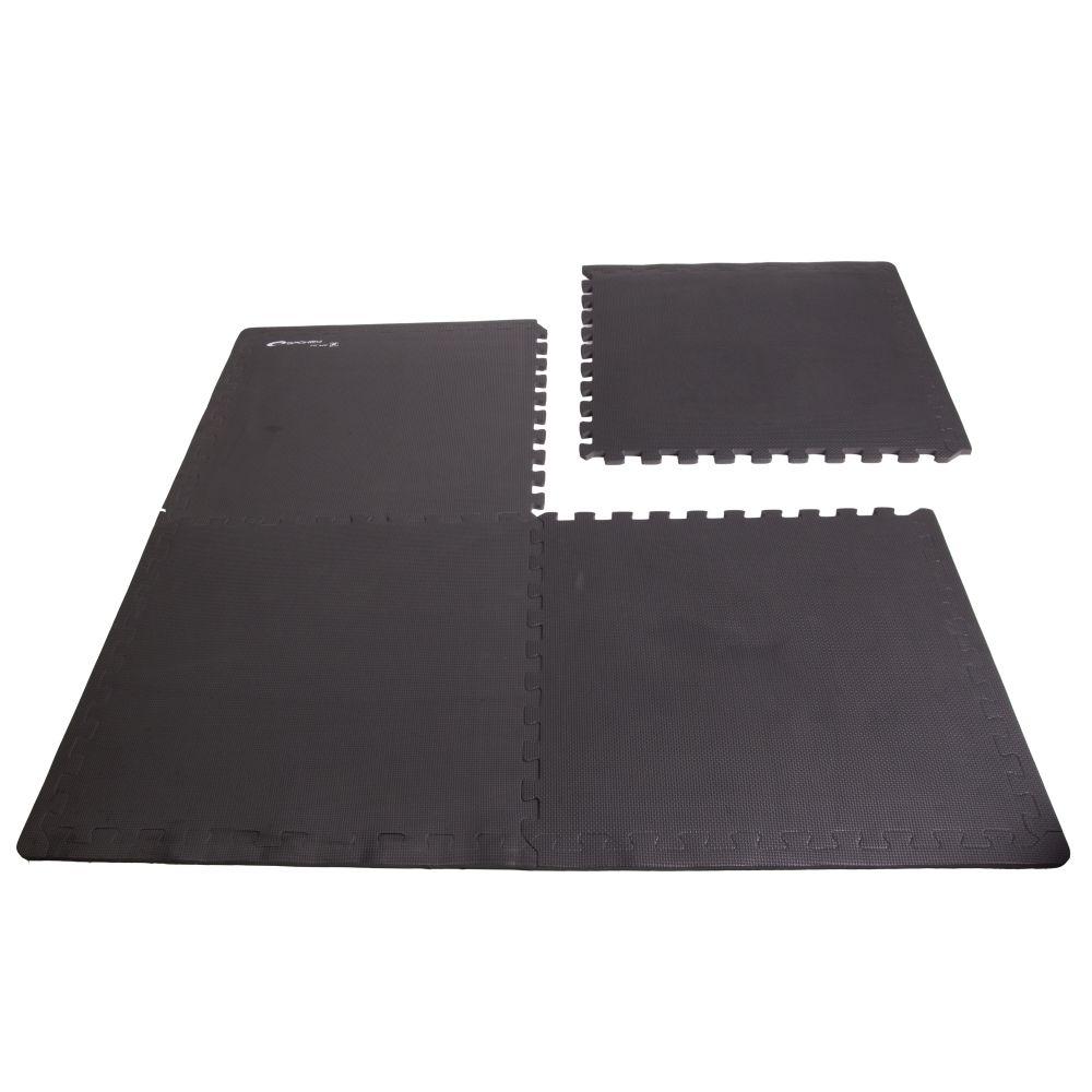 Podložka na cvičení Spokey Scrab černá 61x61x1,2cm