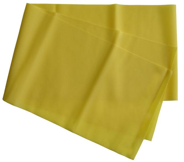 Gumová stuha Acra na aerobic - žlutá střední