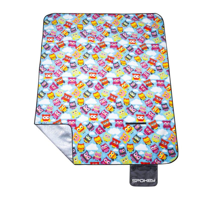 Pikniková deka s popruhem Spokey Owl 180x210cm