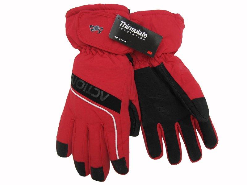 Pánské lyžařské rukavice Action - červené