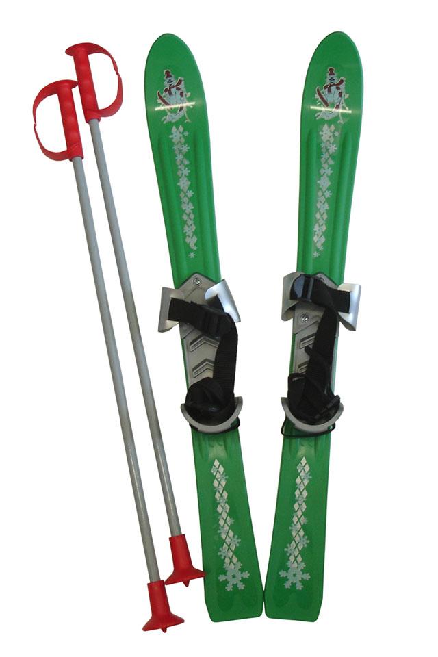 Dětské lyže Baby Ski 70 cm s vázáním - zelené