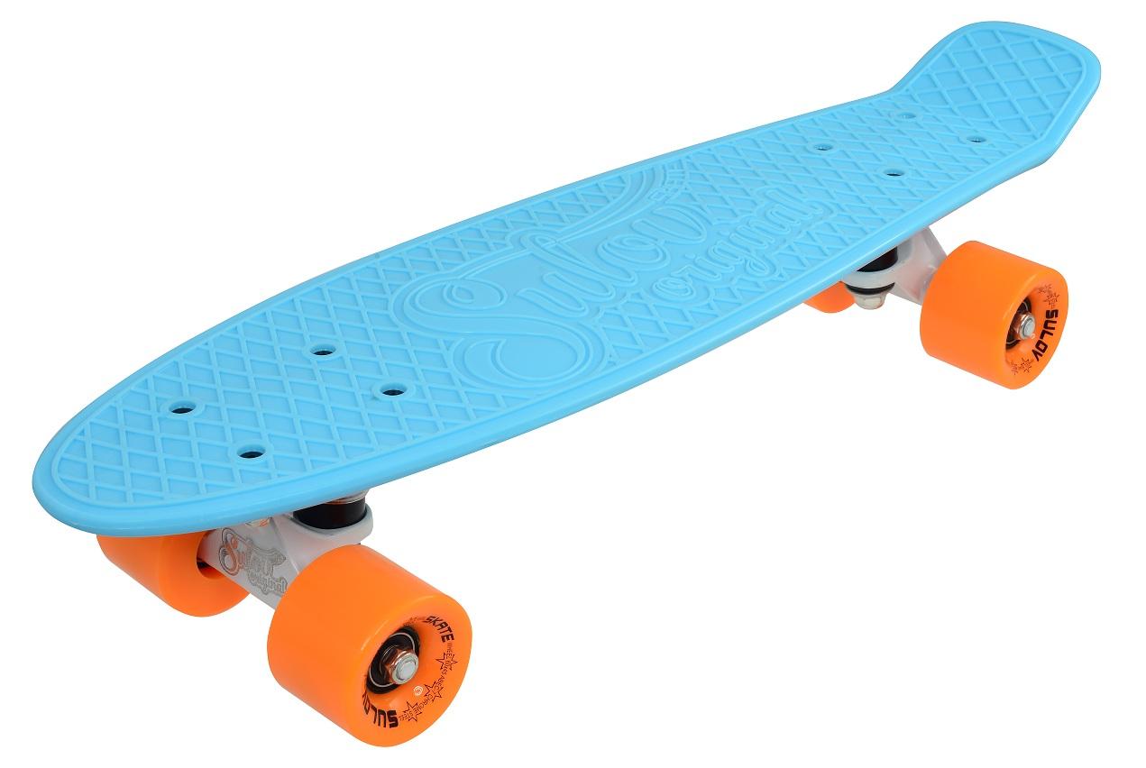 Penny board  SULOV VIA DOLCE 22 sv.modrý-mat.oranžový