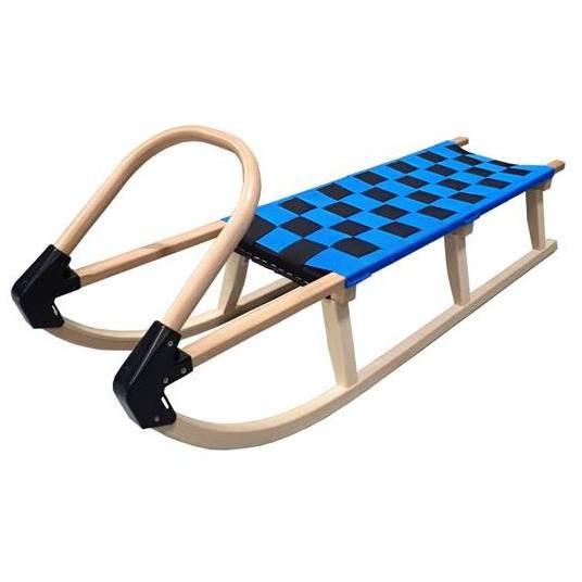 Dřevěné sáně Acra 125cm modré