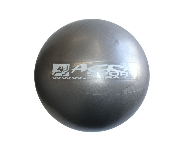 Míč overball Acra 30cm stříbrný