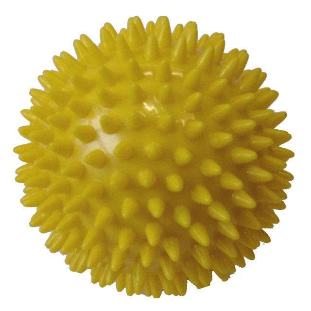 Míček masážní Acra průměr 9cm žlutá