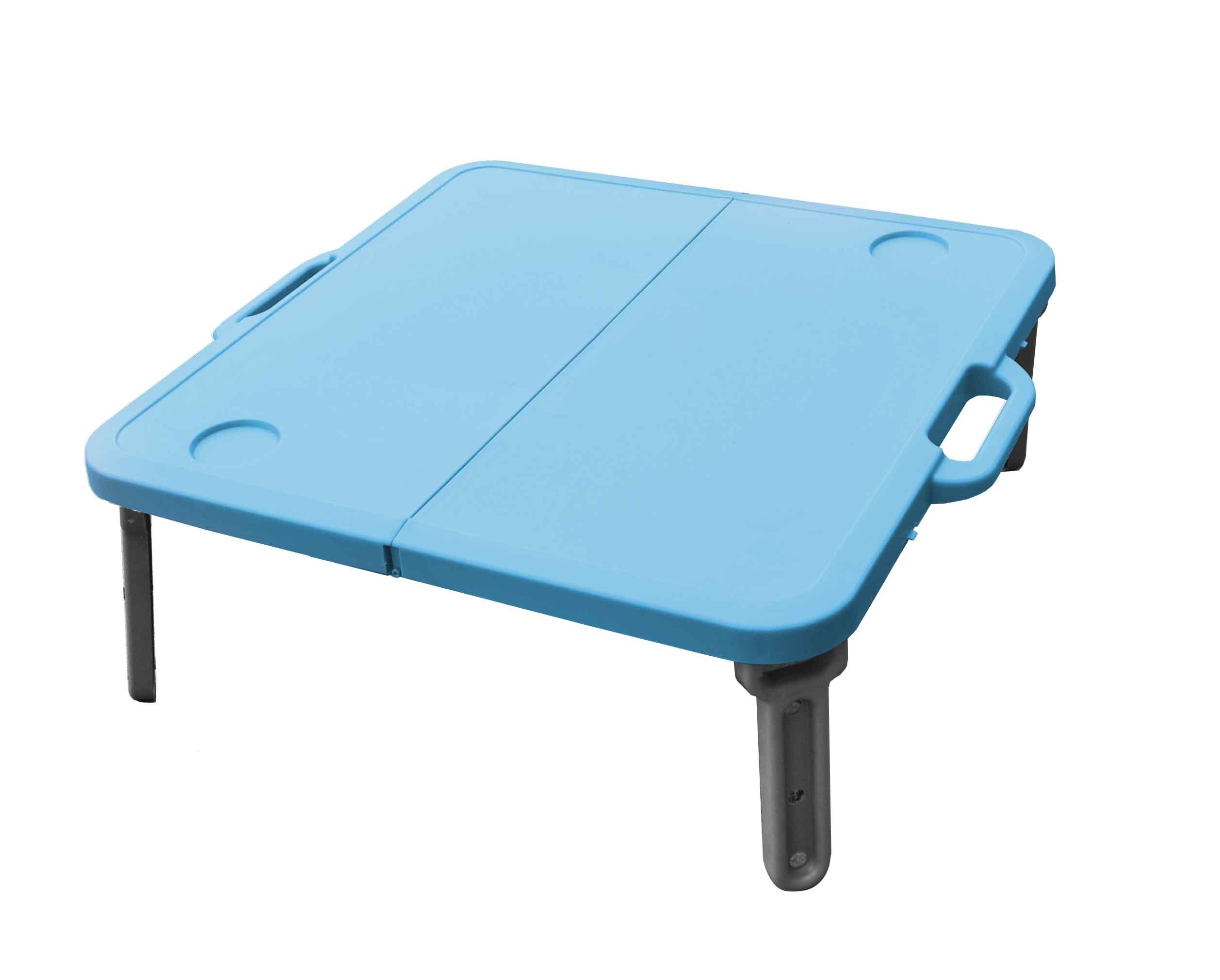 MINI skládací stolek k lehátku, modrý