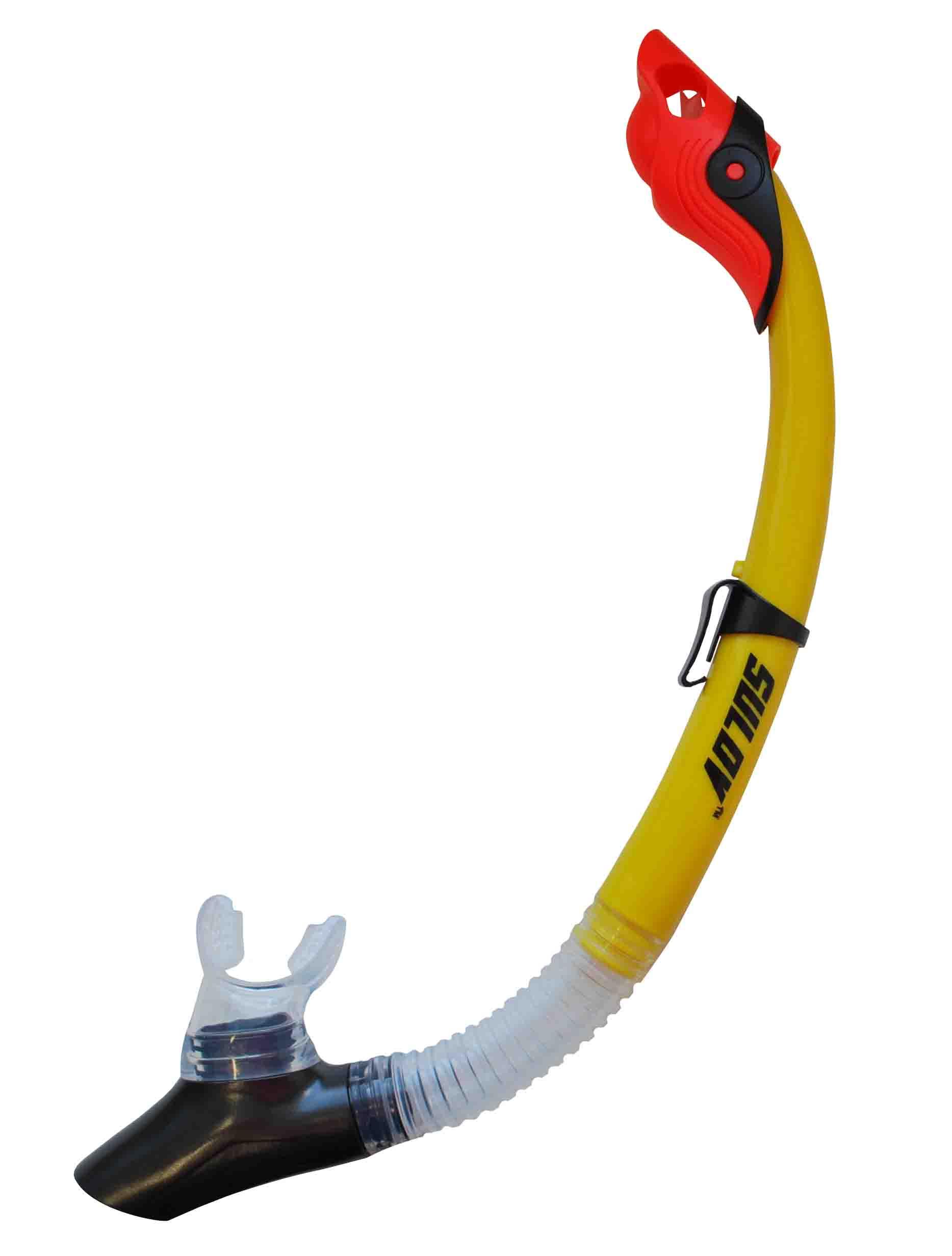 Šnorchl Calter Adult Silicon žlutý
