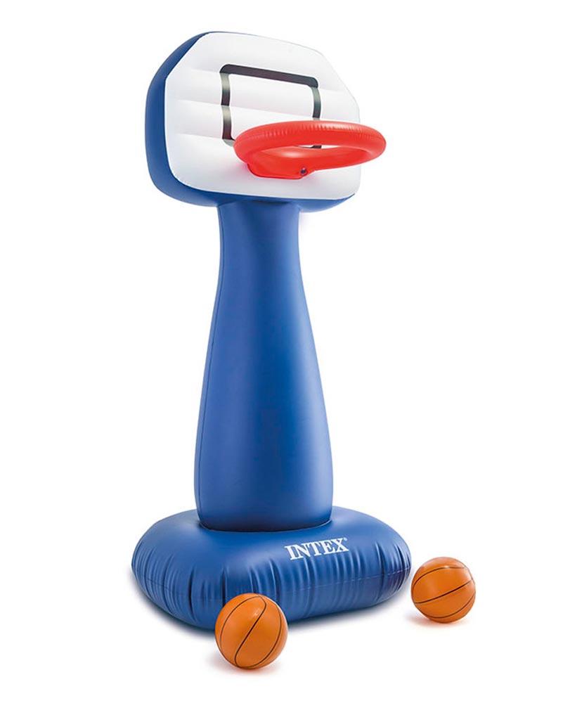 Nafukovací basketbal koš Intex + 2 míče