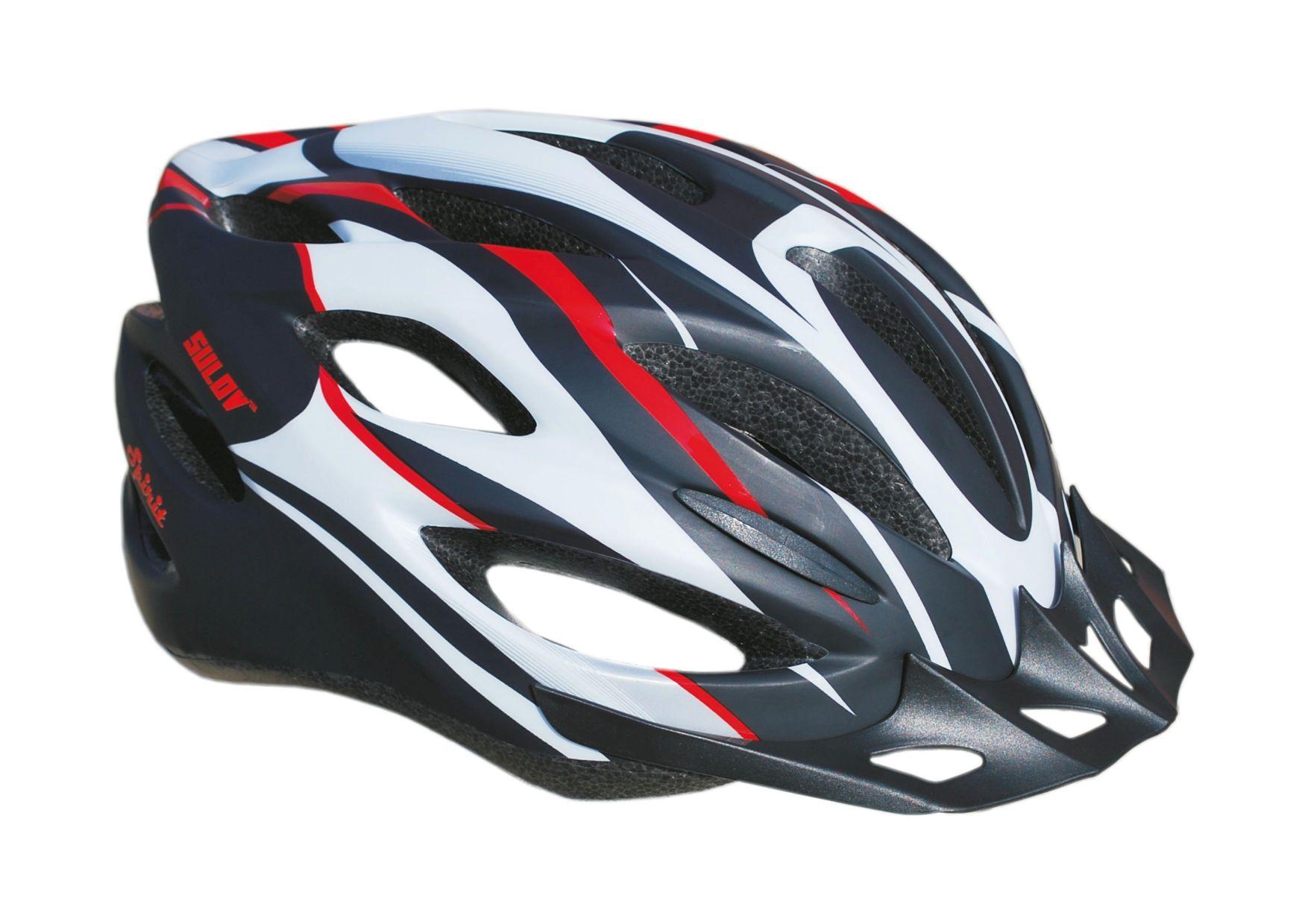Cyklistická přilba Sulov Spirit černo-červená polomat