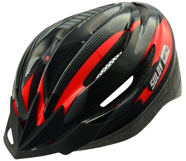 Cyklistická přilba Sulov Matteo černo-červená