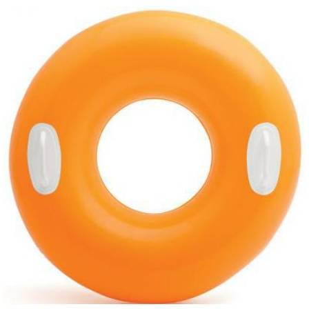 Kruh plavací Intex s držadlem 76cm oranžová
