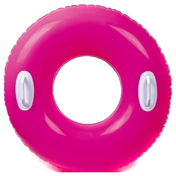 Kruh plavací Intex 59258 s držadlem 76cm růžová