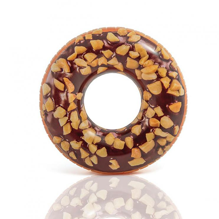 Kruh plavecký Intex 56262 Čokoládový donut 114cm