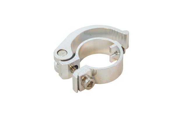 Rychloupínací objímka tubusu řídítek - komplet stříbrná