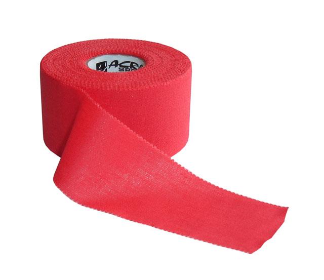 Pevný tape Acra 3,8cm x 13,7m červený
