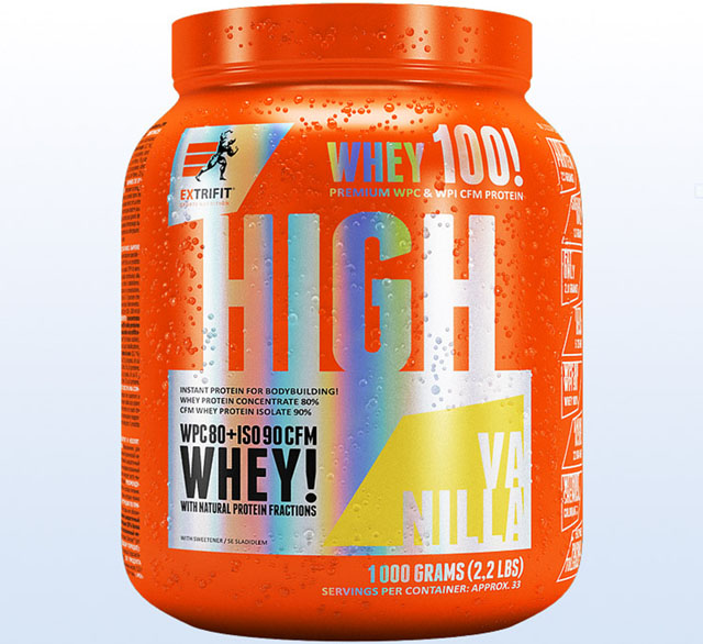 Nápoj Extrifit High Whey 80 1000g vanilka