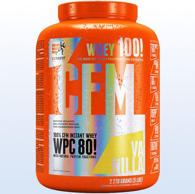 Protein Extrifit CFM Instant Whey 80 vanilka 2270g - protein