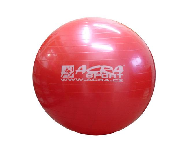 Gymnastický míč Acra S3213 75cm červený