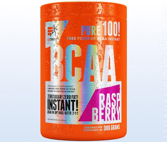 Aminokyseliny Extrifit BCAA Instant 300g jahoda-máta
