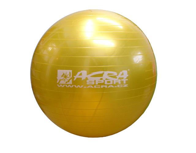 Gymnastický míč Acra S3214 85cm žlutý