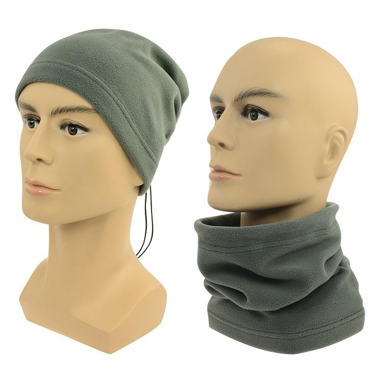 Multifunkční šátek 2v1 Fleece šedý