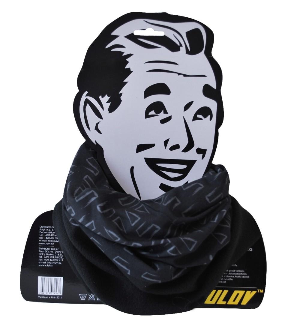Sportovní šátek s flísem Sulov černý