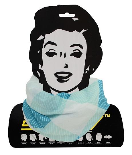 Sportovní šátek s flísem Sulov modro-bílý