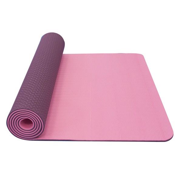 Podložka na jógu dvouvrstvá Yate Yoga Mat TPE 6mm