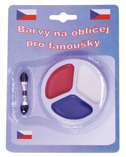 Barvy na obličej ČR 1