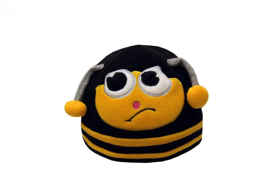 Dětská zimní čepice včelka žlutá