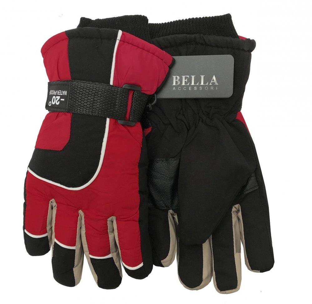 Dětské zimní rukavice Bella Accessori 9010-3 červená