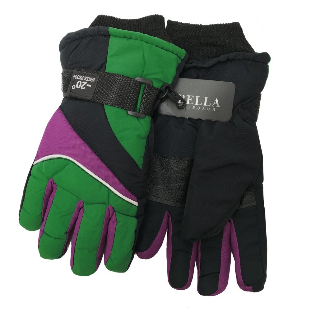 Dětské zimní rukavice Bella Accessori 9009-4 zelená