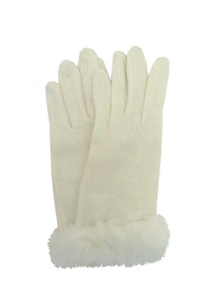 Dámské zimní rukavice Mess GL0318 slonová kost
