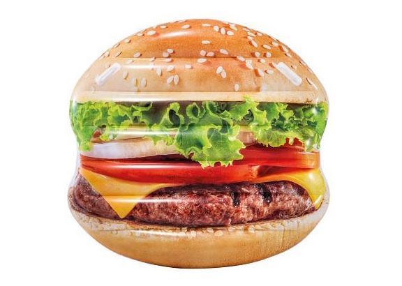 Nafukovací lehátko Intex 58780 Hamburger 145x142cm