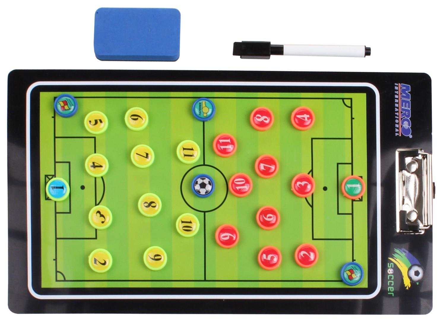 Magnetická trenérská tabule Merco Fotbal 64 s klipem