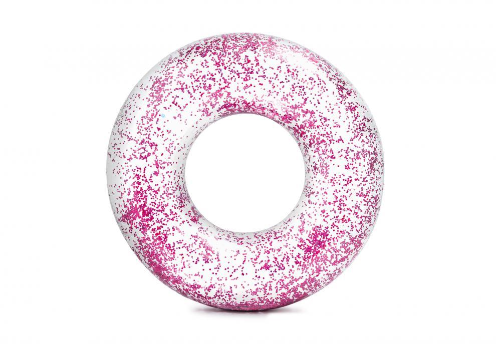Nafukovací kruh Intex 56274 Glitter Pink 119cm