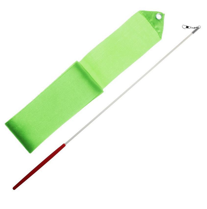 Gymnastická tyčka se stuhou 6m světle zelená