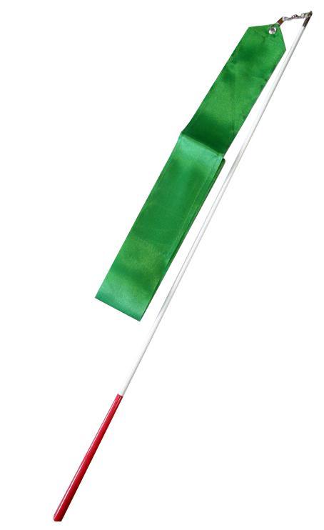 Gymnastická tyčka se stuhou 6m tmavě zelená