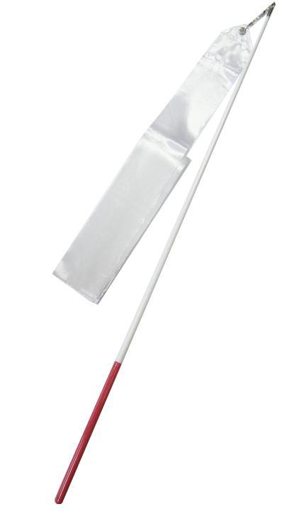 Gymnastická tyčka se stuhou 6m bílá