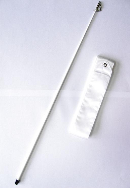 Gymnastická tyčka se stuhou Official Fantasia 6m bílá