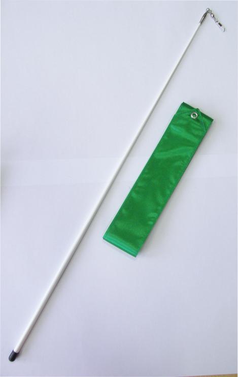 Gymnastická tyčka se stuhou Effea Official Fantasia 6m zelená