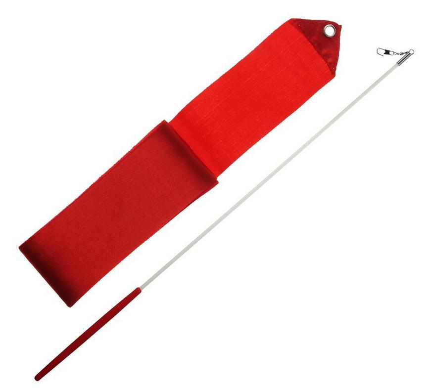 Gymnastická tyčka se stuhou Junior 3m červená