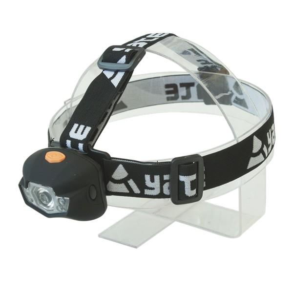 Čelová lampa Yate Panter 3 W Cree+2 LED černá