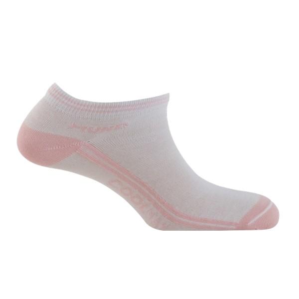 Ponožky Mund Invisible Coolmax bílo/růžové