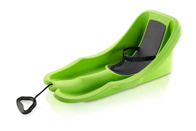 Plastový bob Acra Baby rider zelený