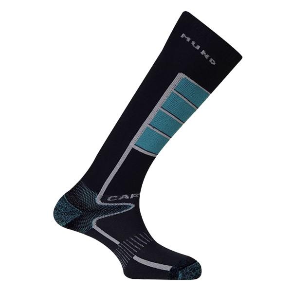 Lyžařské ponožky Mund Carving tm.modré