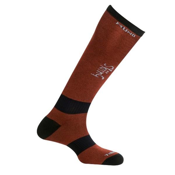 Lyžařské ponožky Mund Skiing vínové