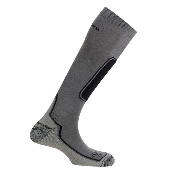 Lyžařské ponožky Mund Skiing Outlas šedé
