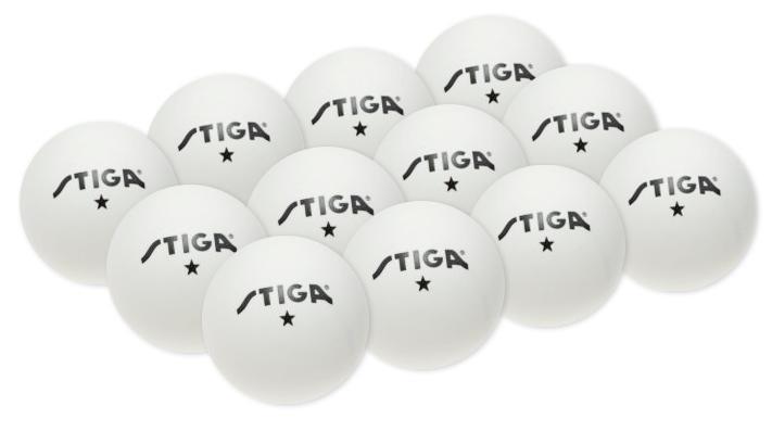 Míčky na stolní tenis Stiga Training bílé 12ks